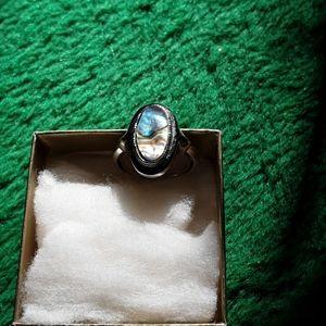 Vintage avon abalone ring